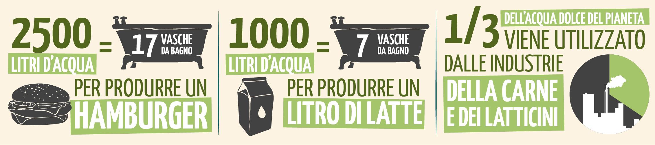 cibi animali sprecano più acqua di quelli vegetali