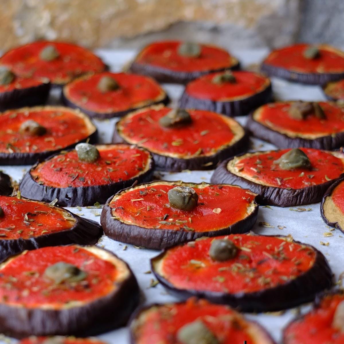 Pizzette di melanzane (senza pasta)