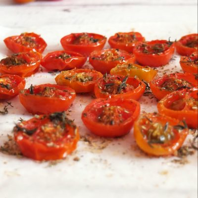 pomodori confit al forno vegan francesca bresciani