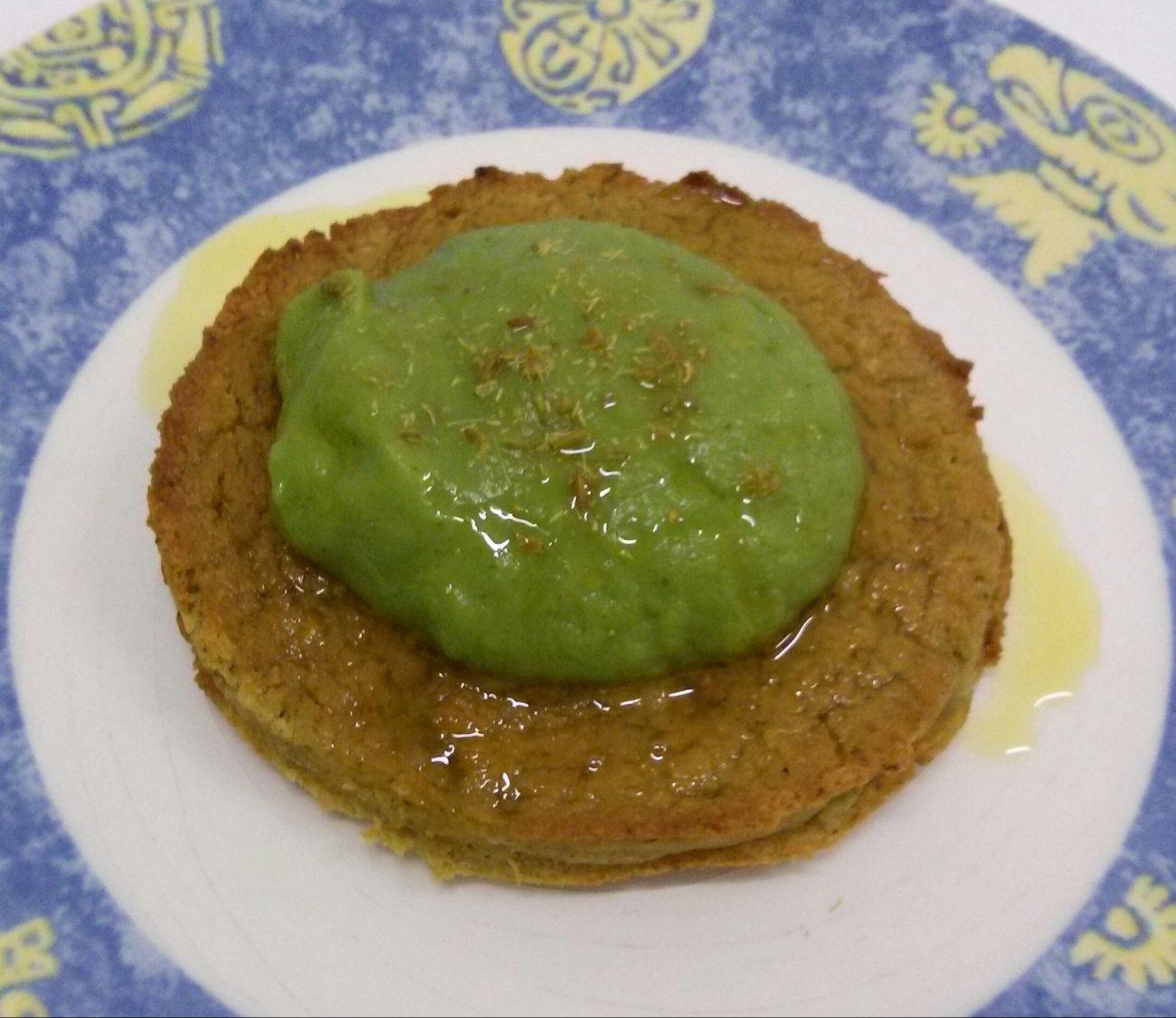 Burger di ceci con salsa ai broccoli e semi di finocchio