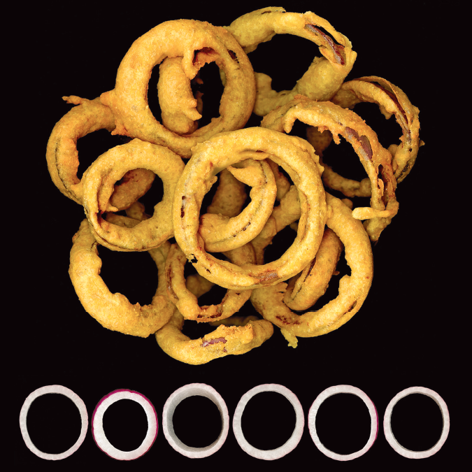 Pakora onion rings