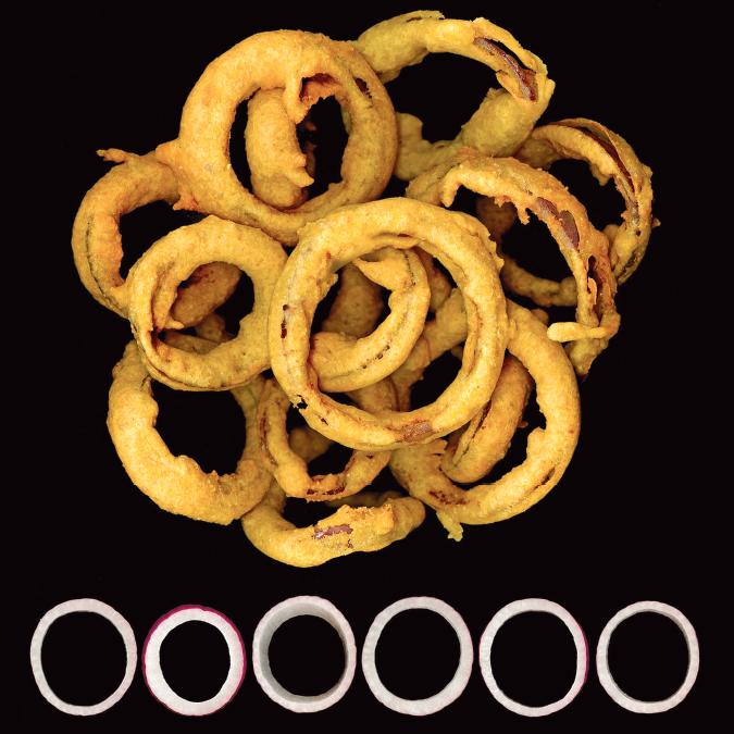 Pakora onion rings