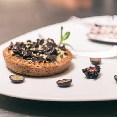 Crostatina vegan di cioccolato con crema pasticcera al latte di canapa_Stefano Broccoli_io scelgo veg