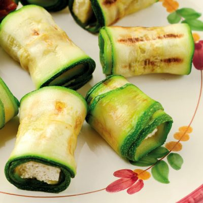 Involtini di zucchine vegan senza glutine_ Francesca Gregori