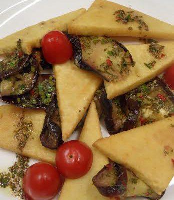 Panelle veg con melanzane e pesto_nicoletta donini_io scelgo veg