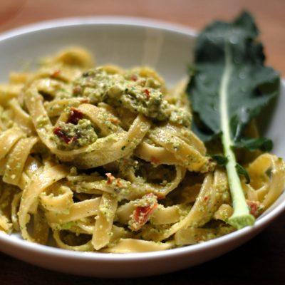 linguine al broccolo crudo veg_tilia tarrare_io scelgo veg