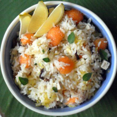 Insalata di riso e melone_Tilia Tarrare_io scelgo veg