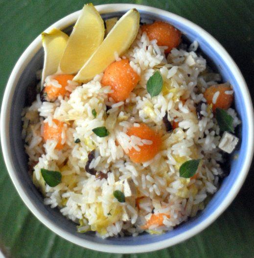 Insalata di riso e melone