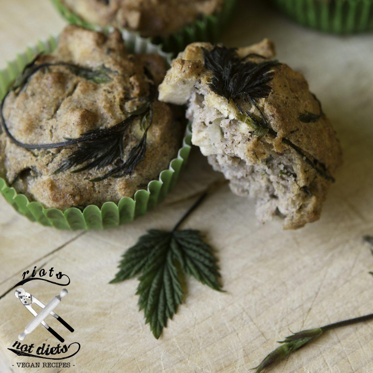 Muffin senza glutine con luppolo selvatico e tofu