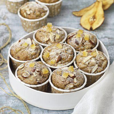 dolci muffins alle pere e zenzero vegan_ Antonella La Stella vegan