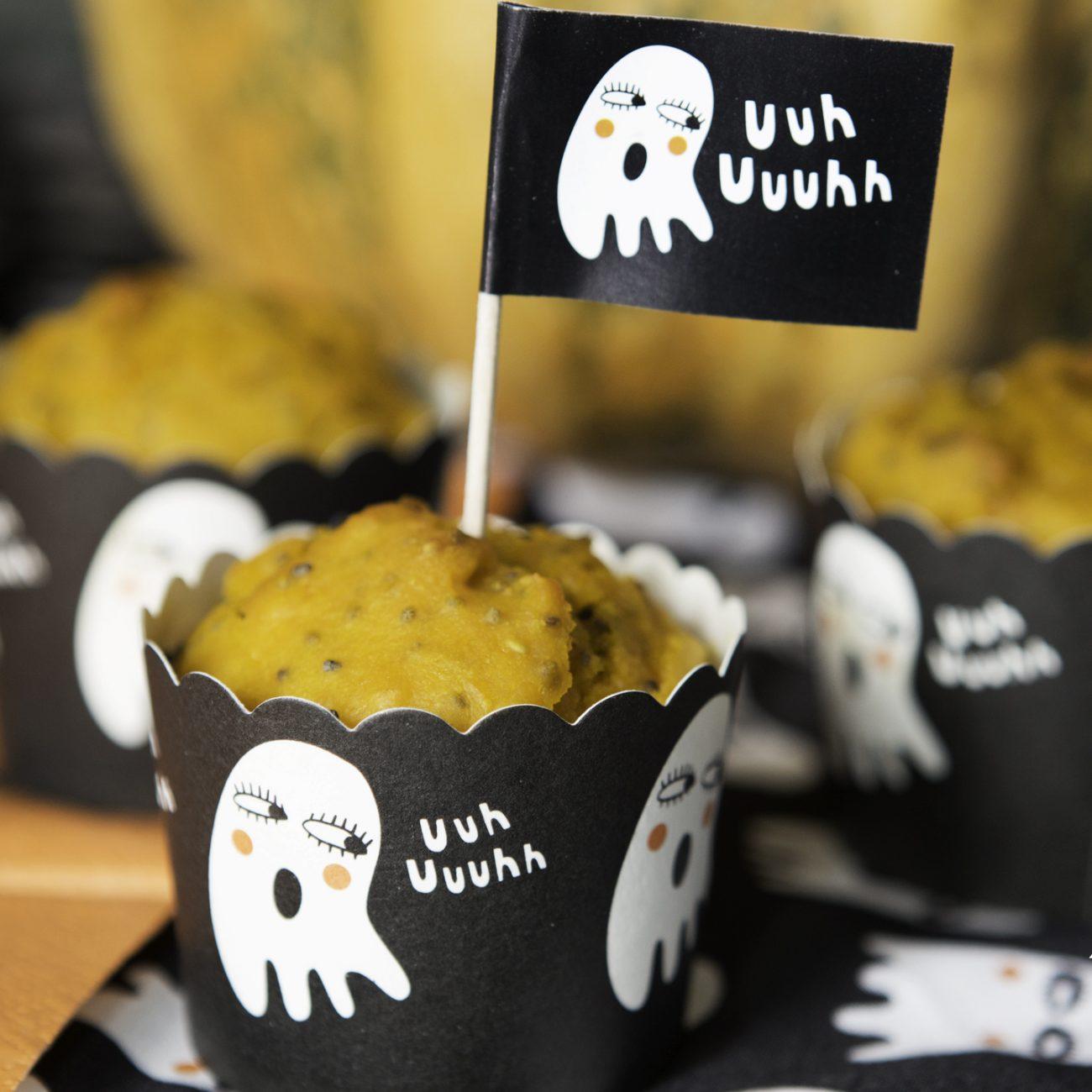 Muffin alla zucca e semi di chia