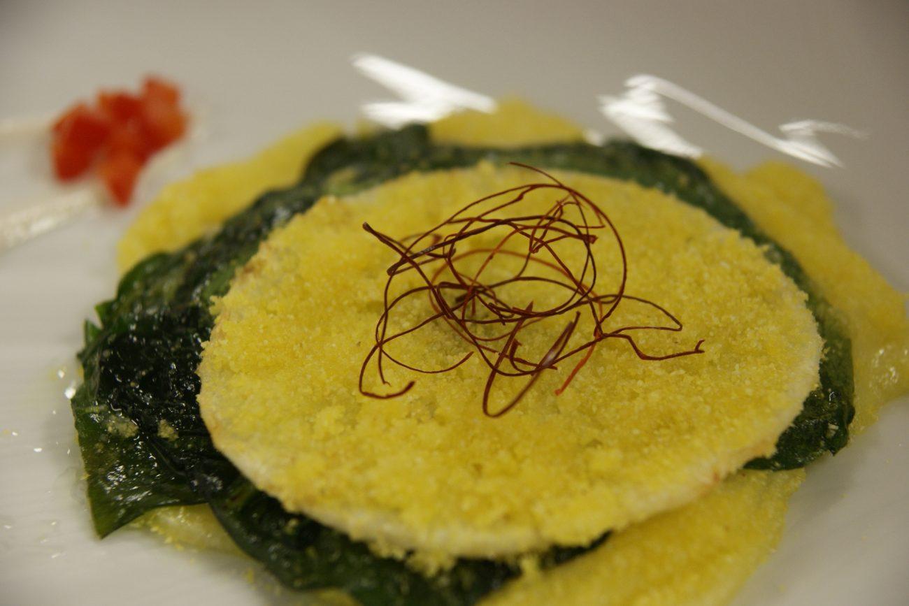 Cotoletta di sedano rapa e spinaci