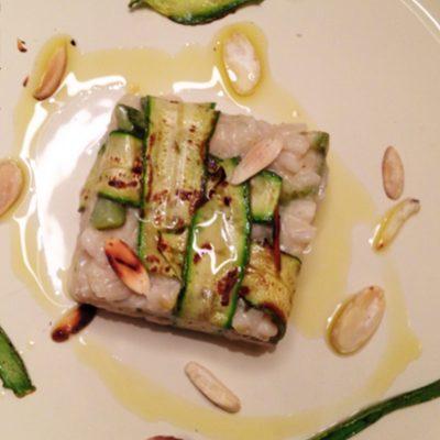 Risotto vegan zucchine e mandorle_Politi Grieco