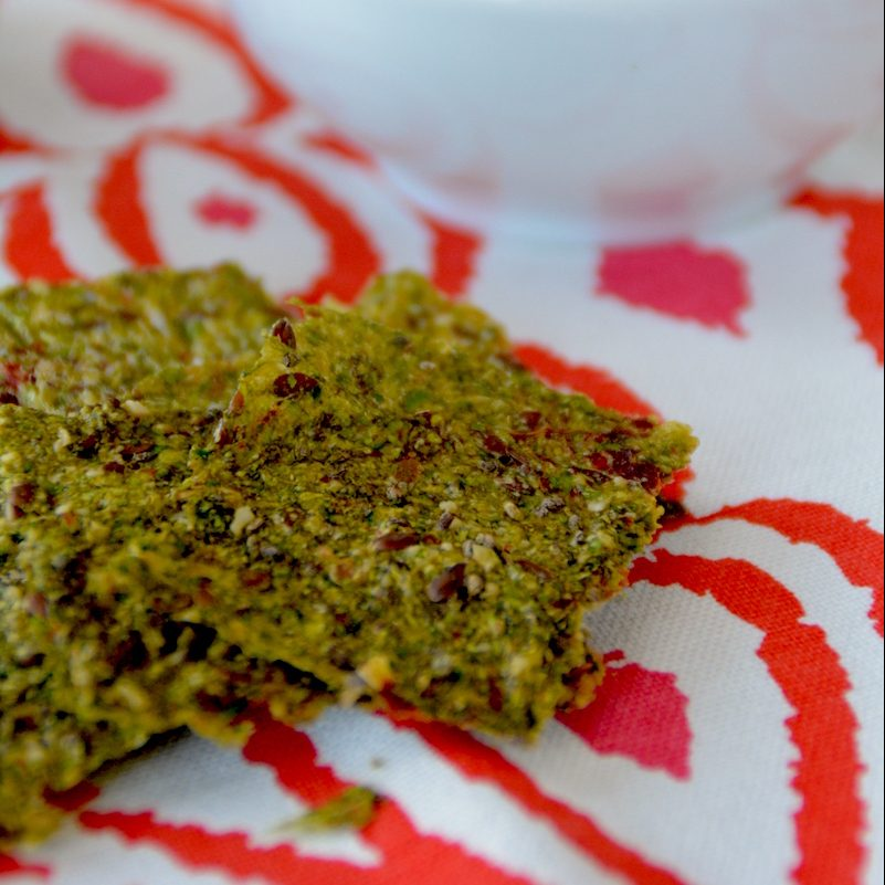 Raw-crackers di zucchine