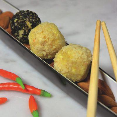 Palline di tufu e curry vegan_Romana Gardani