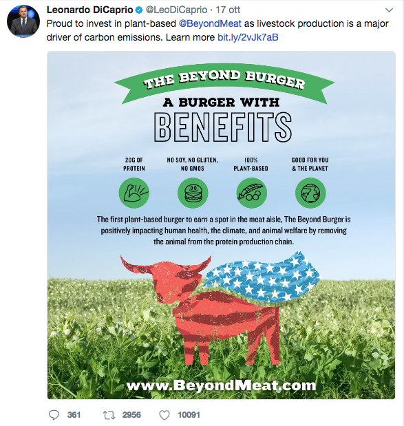 leonardo di caprio investimento in beyond meat