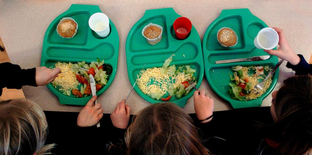 menù vegetariano in scuola americana