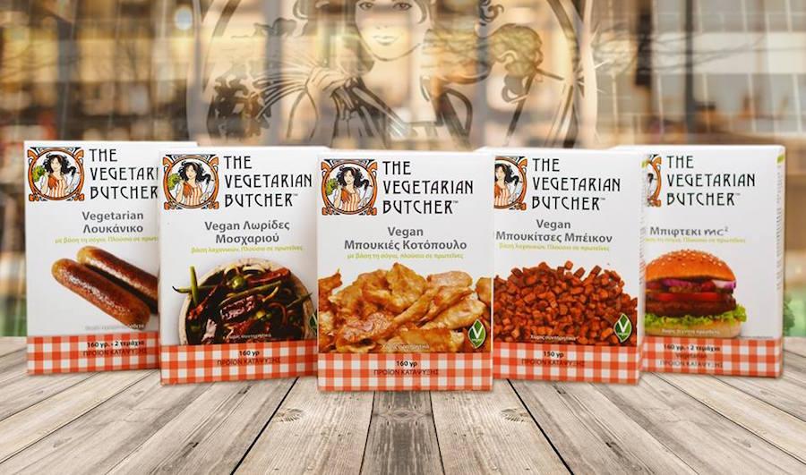i prodotti in vendita del macellaio vegetariano olanda