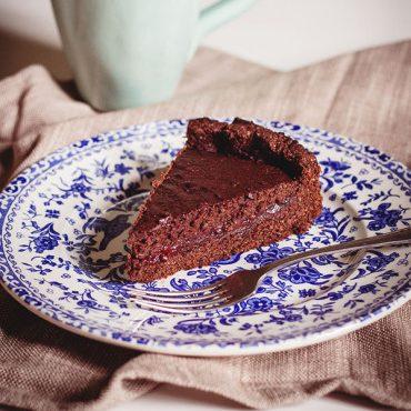 Crostata alla confettura di lamponi e cioccolato