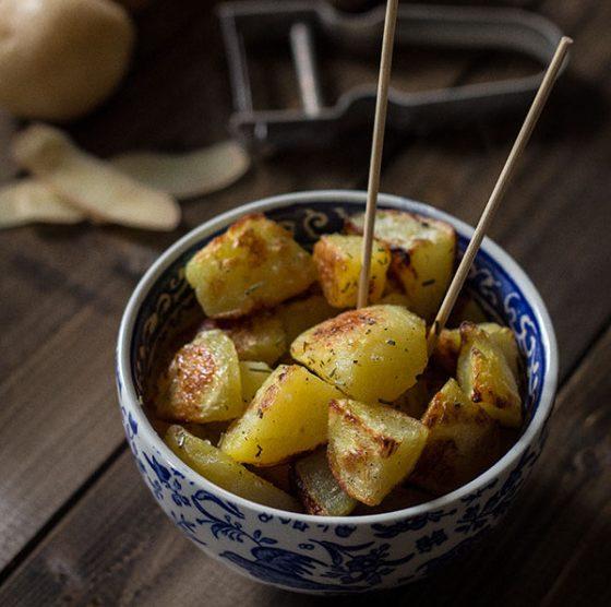 Patate arrosto con la crosticina godereccia