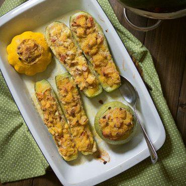 Zucchine ripiene gratinate