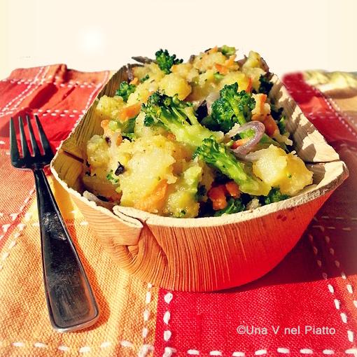 Insalata di patate e broccolo