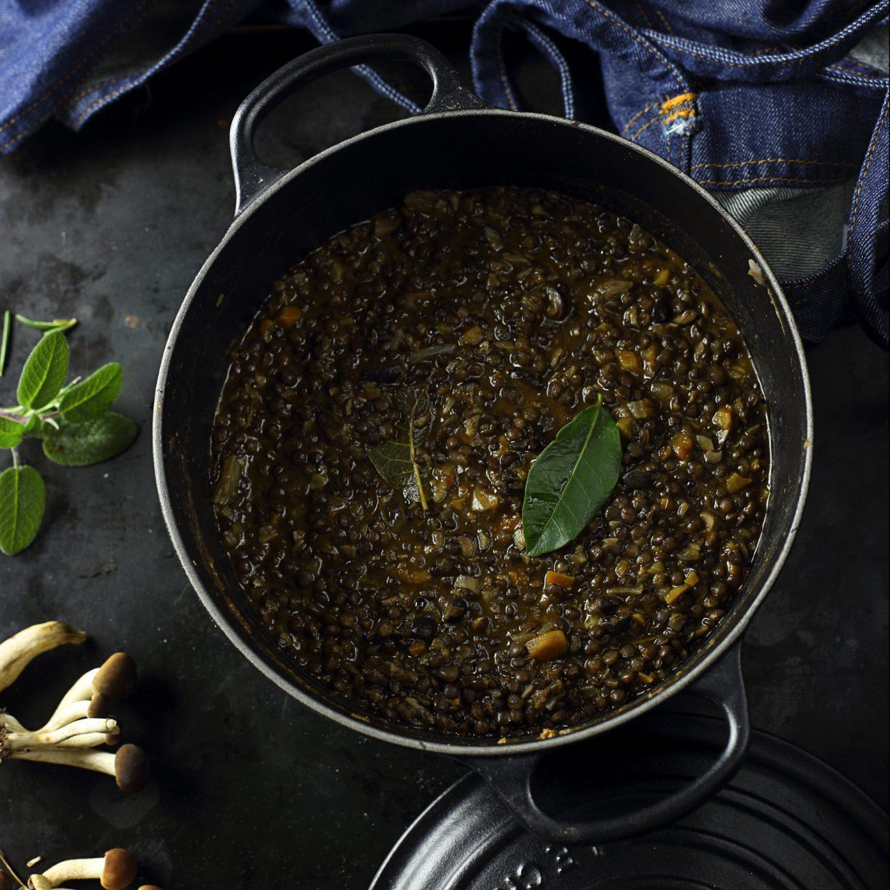 Ragù di lenticchie e funghi