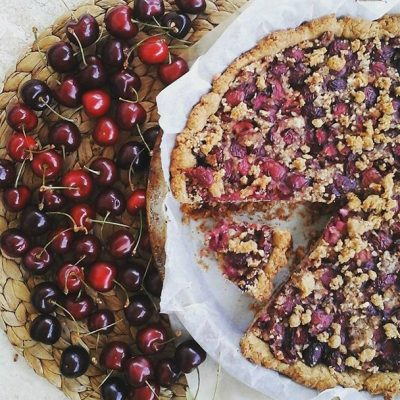 Crostata alle ciliegie vegan_Naturalelentamente