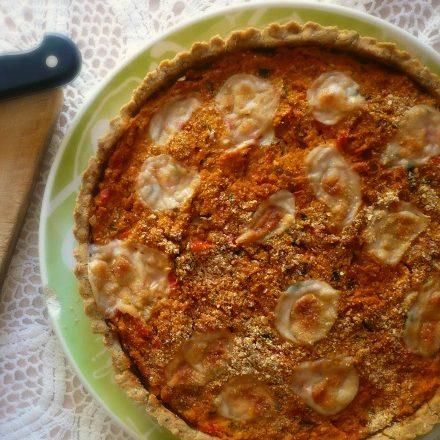 Torta salata con verdure e fagioli cannellini