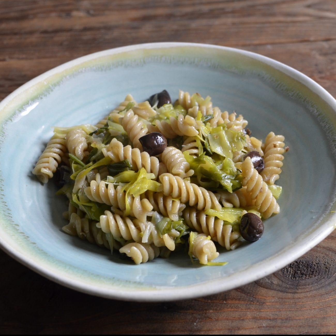 Pasta porri e olive