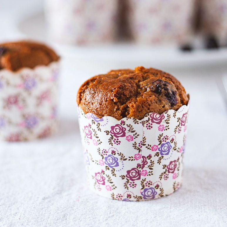Muffin vegani alle more