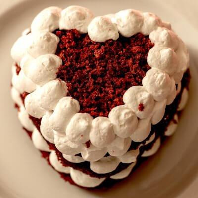 torta red velvet con panna