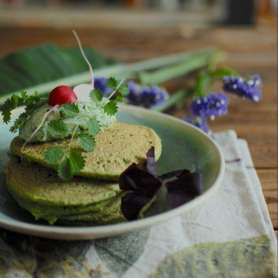 Pancakes con tzatziki vegan_Betti Taglietti
