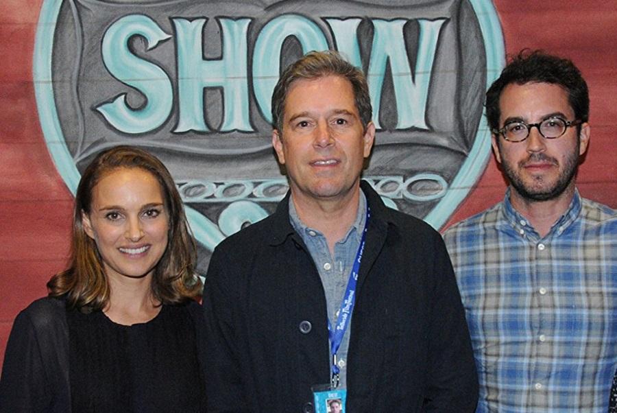 Natalie Portman insieme al regista Christopher Dillon Quinn e allo scrittore Jonathan Safran Foer
