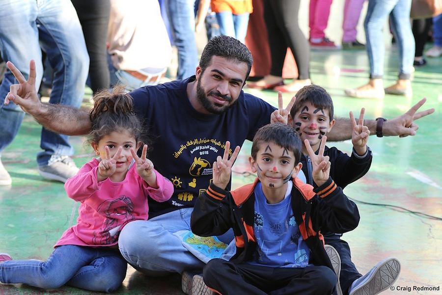 diritti animali e d educazione dei bambini in Palestina