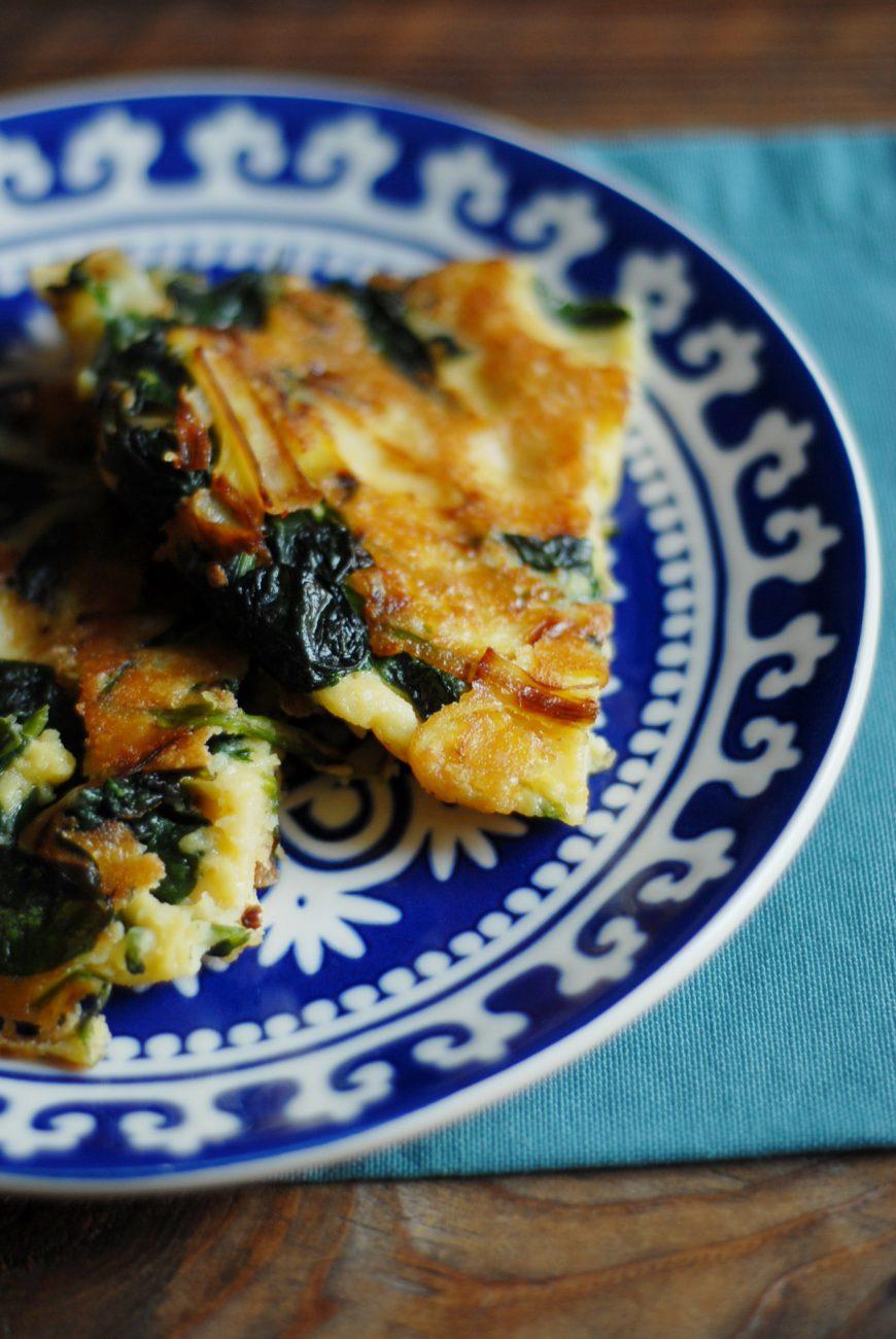 Farinata agli spinaci