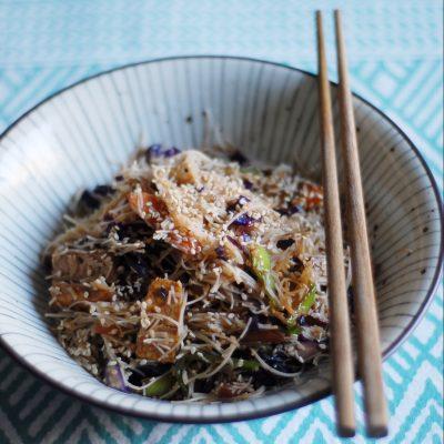Spaghetti di riso con verdure_Betti Taglietti