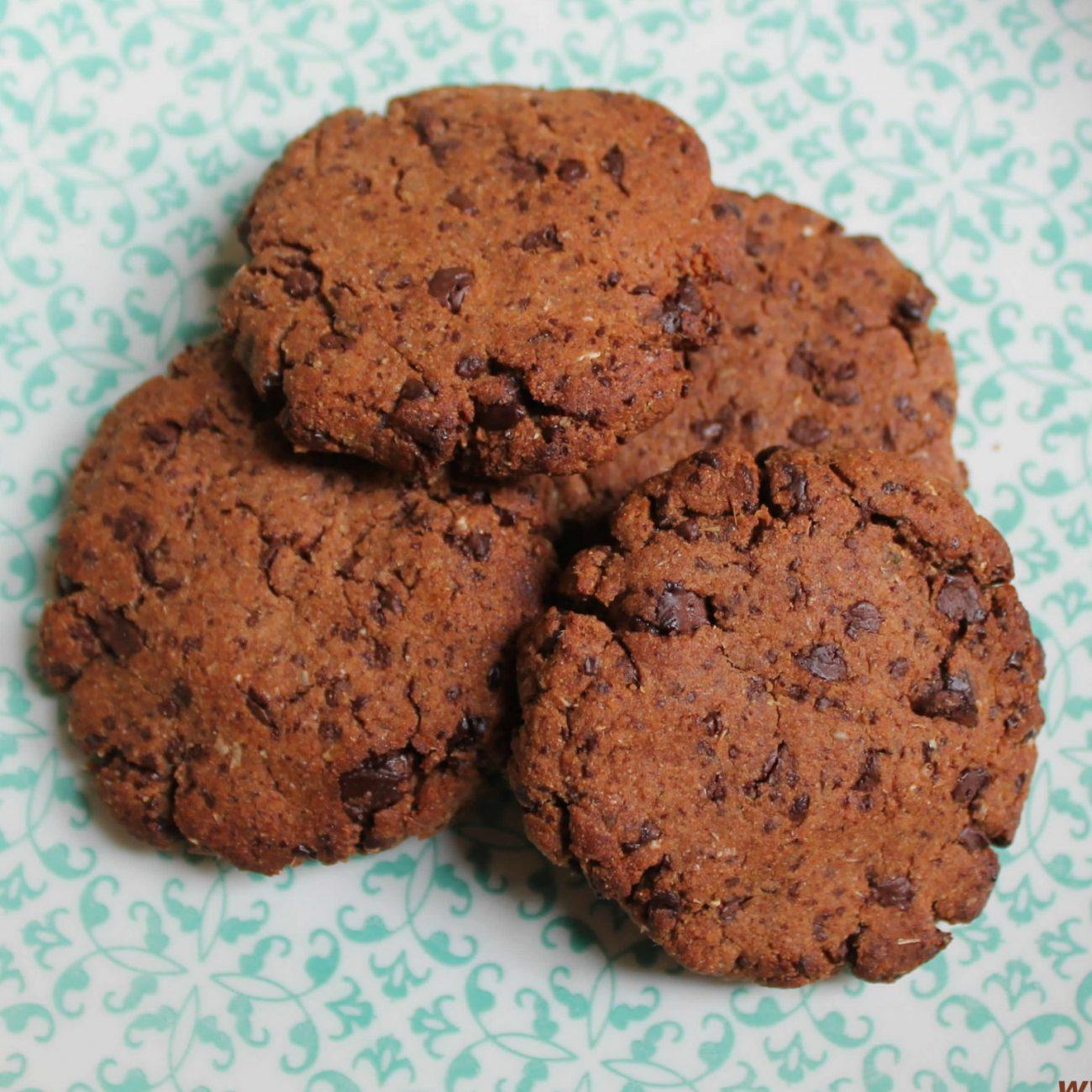 Cookies latte di cocco e cioccolato