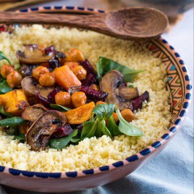 cous cous con verdure al forno di Elefante Veg per ioscelgoveg Essere Animali