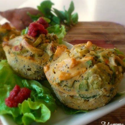 Muffins salati alle verdure e semi di papavero