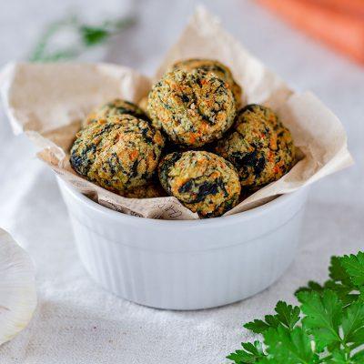 polpette vegane di carote patate spinaci