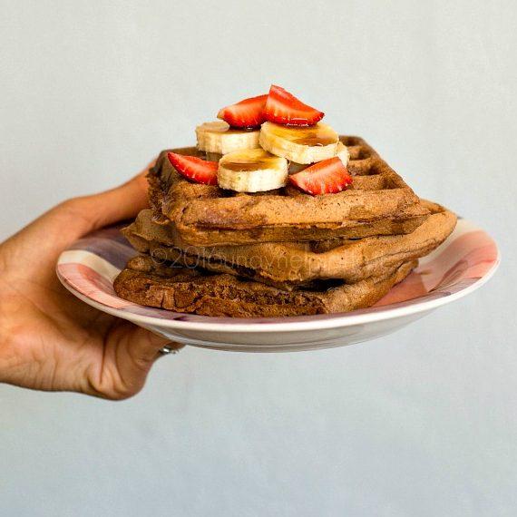 Waffles di avena integrale e grano saraceno