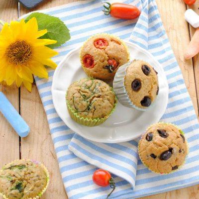 Muffin salati di Francesca Militello per Ioscelgoveg