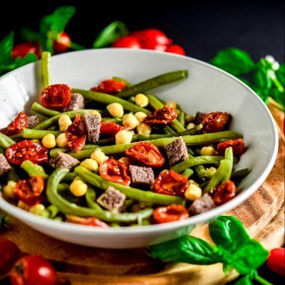 insalata tricolore con fagiolini