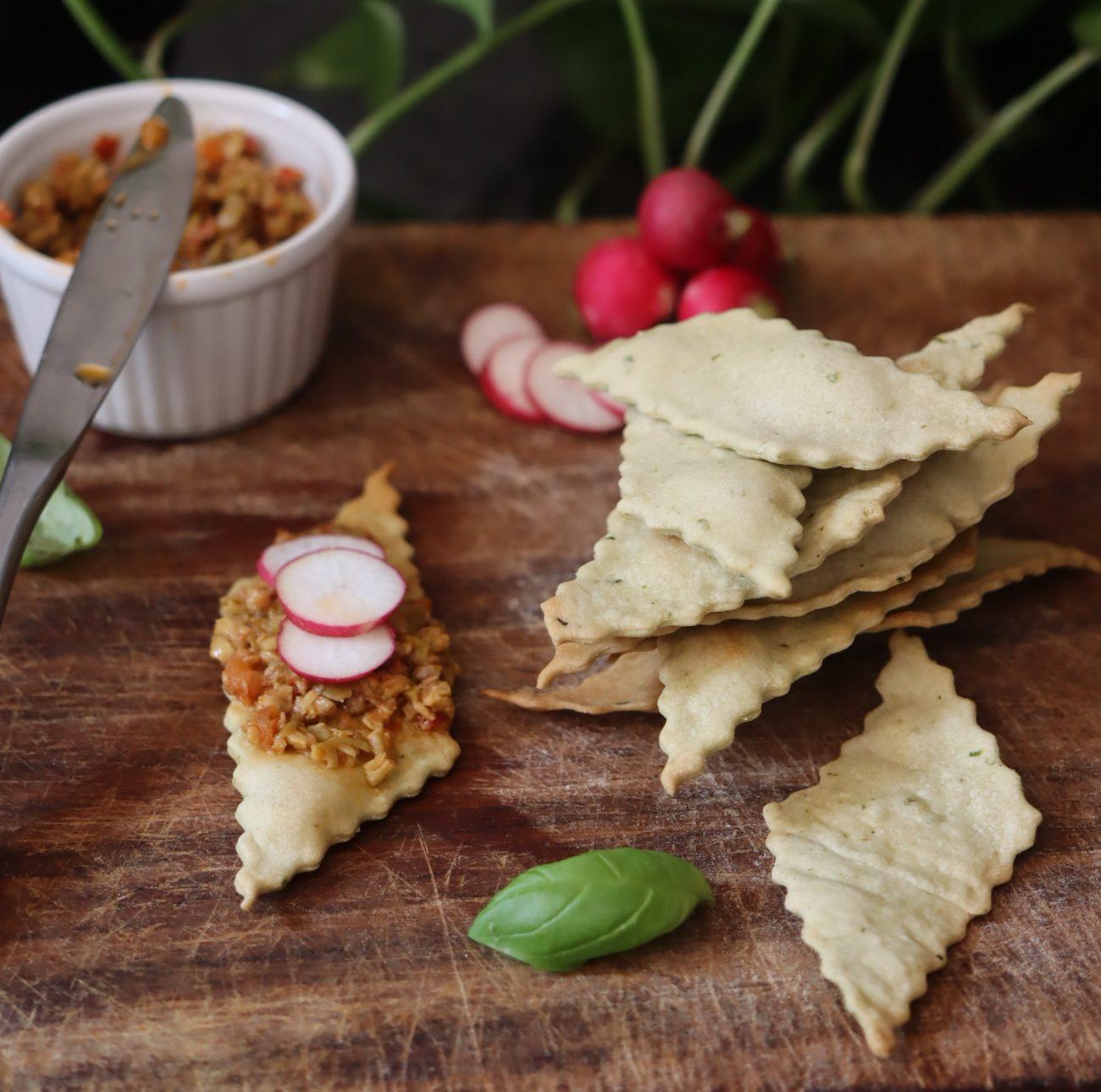Crackers al basilico