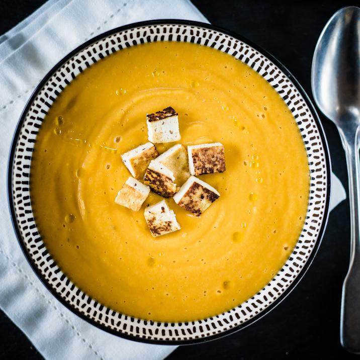 Zuppa di zucca, lenticchie e zenzero