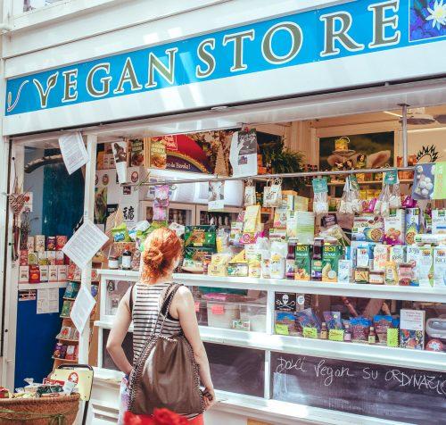 Vegan store al mercato di Testaccio a Roma