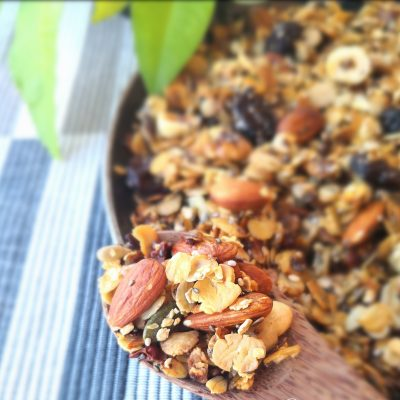 Granola in padella vegan