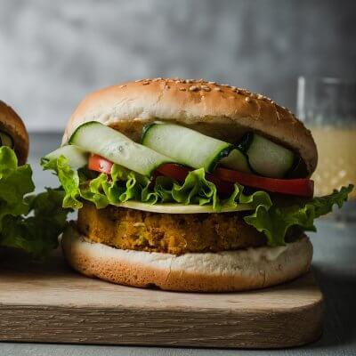 burger di ceci vegan