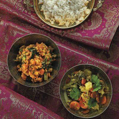 riso all'indiana con curry di verdure